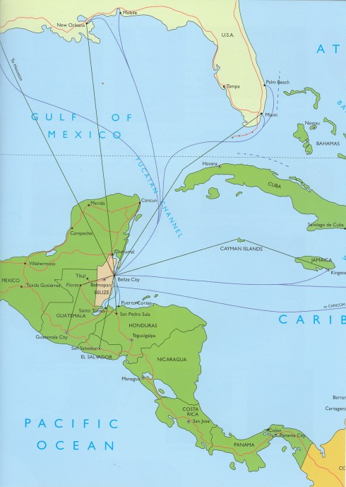 Map - Central America - Belize