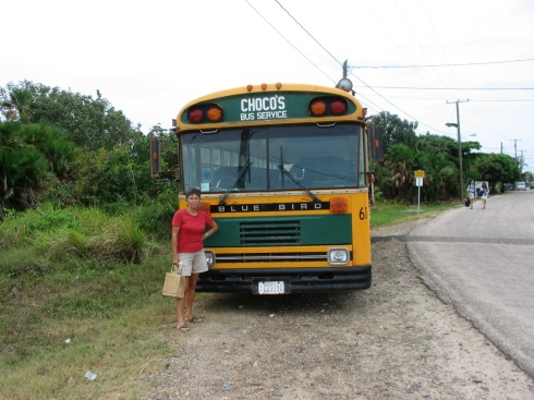 This bus gets you to Hopkins Village from Dangriga
