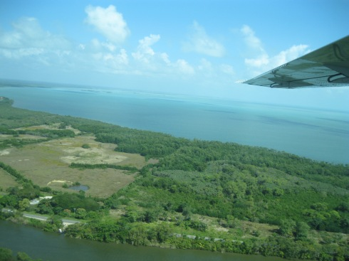 Approaching Dangriga en route to Hopkins Village
