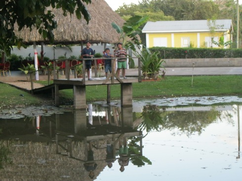 Hand-Fishing at the Watering Hole (The Aguada)