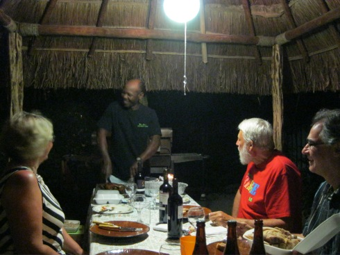 Dining under the Palapa