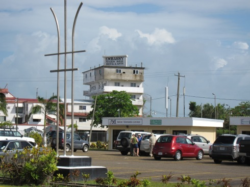 Travellers arriving in Belize City