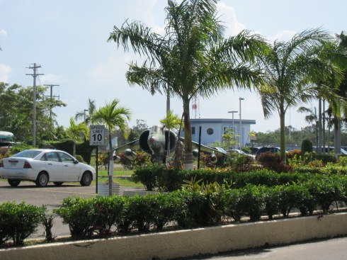 Outside the Belize International Airport