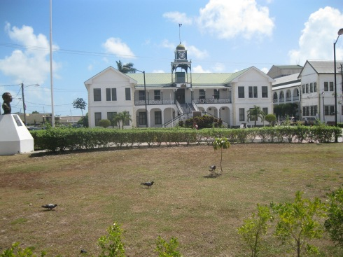 Belize Courthouse on Regent Street, Belize City South