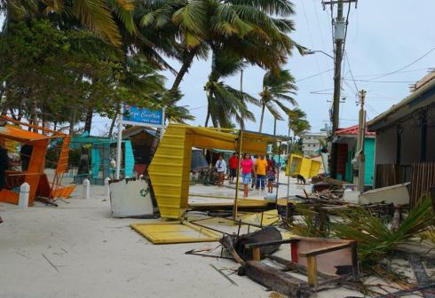 Topsy turvey on Caye Caulker