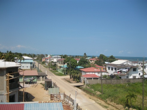 Dangriga Town on the Caribbean coast