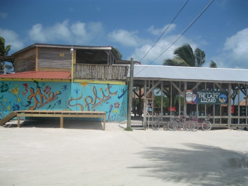 Caye Caulker, a popular island in the Caribbean, 45 min.from Belize City
