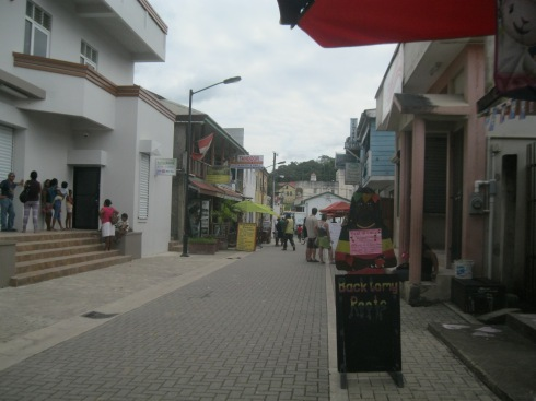 The Town of San Ignacio, twinned with Santa Elena, in-land near the Mayan Mountains