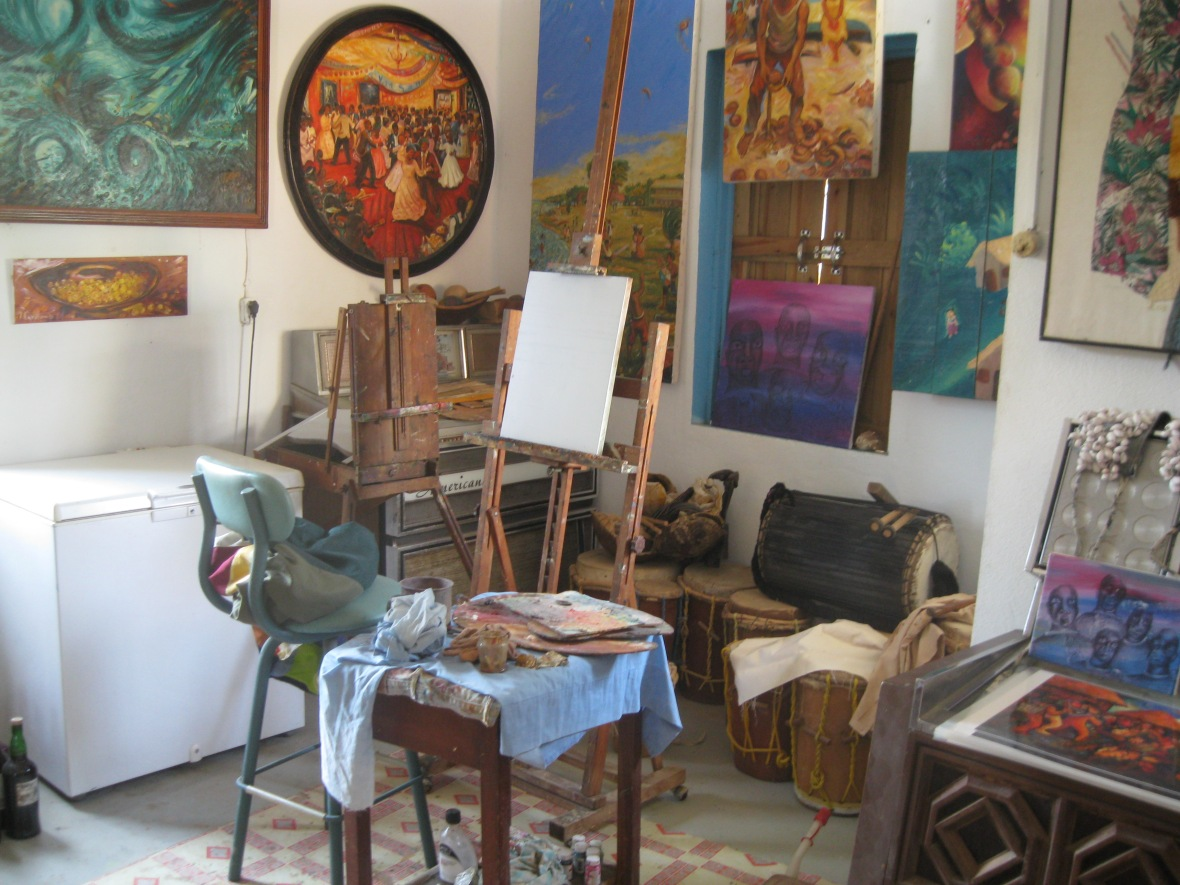 Studio of Pen Cayetano, one of Belize's best-known and internationally acclaimed artists