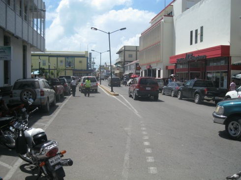 Albert Street - the main street in Belize City